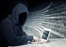 Κανένας χάκερ προσώπου Στοκ Εικόνες