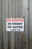 Κανένας χώρος στάθμευσης δεν τραγουδά στοκ εικόνες