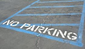Κανένας χώρος στάθμευσης στην άσφαλτο Στοκ Εικόνες