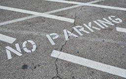 Κανένας χώρος στάθμευσης στην άσφαλτο Στοκ Φωτογραφίες