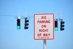 Κανένας χώρος στάθμευσης στο δικαίωμα του τρόπου Στοκ Εικόνες