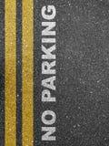 Κανένας χώρος στάθμευσης στο πεζοδρόμιο Στοκ Εικόνα