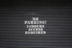 κανένας χώρος στάθμευσης Στοκ Εικόνες