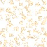 Κανένα άνευ ραφής διάνυσμα σχεδίων υποβάθρου λέξης διατροφής Στοκ Φωτογραφία
