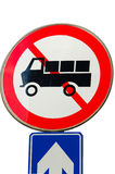 Κανένα αυτοκίνητο και δεν πηγαίνει ευθύ οδικό σημάδι Στοκ φωτογραφίες με δικαίωμα ελεύθερης χρήσης