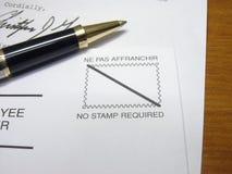 κανένα γραμματόσημο Στοκ Εικόνα