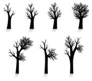 κανένα διάνυσμα δέντρων ιχνών σκιαγραφιών Στοκ φωτογραφίες με δικαίωμα ελεύθερης χρήσης