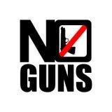 Κανένα εικονίδιο πυροβόλων όπλων ελεύθερη απεικόνιση δικαιώματος