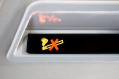 κανένα κάπνισμα σημαδιών αεροπλάνων Στοκ Εικόνες