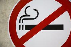 κανένα κάπνισμα σημαδιών Στοκ Εικόνα