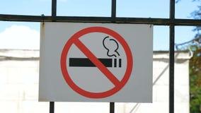 κανένα κάπνισμα σημαδιών απόθεμα βίντεο