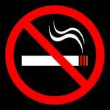 κανένα κάπνισμα σημαδιών ελεύθερη απεικόνιση δικαιώματος