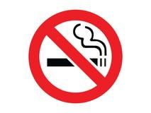 κανένα κάπνισμα σημαδιών Στοκ Φωτογραφίες