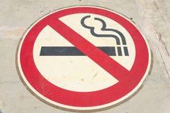 κανένα κάπνισμα σημαδιών Στοκ εικόνες με δικαίωμα ελεύθερης χρήσης