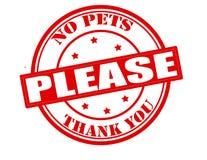 Κανένα κατοικίδιο ζώο παρακαλώ Στοκ Εικόνες