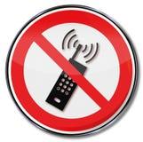 Κανένα κινητό τηλέφωνο παρακαλώ διανυσματική απεικόνιση