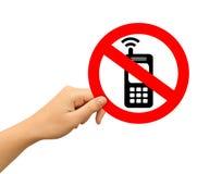 Κανένα κινητό τηλεφωνικό σημάδι ελεύθερη απεικόνιση δικαιώματος
