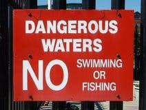 Κανένα κολυμπώντας σημάδι Στοκ Φωτογραφίες