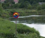 Κανένα κολυμπώντας σημάδι Στοκ εικόνα με δικαίωμα ελεύθερης χρήσης