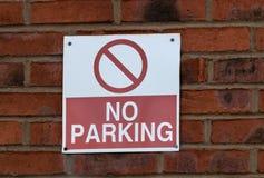 Κανένα κόκκινο χώρων στάθμευσης Στοκ εικόνες με δικαίωμα ελεύθερης χρήσης