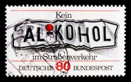 Κανένα οινόπνευμα στην κυκλοφορία, δεν φορά το ποτό ` τ και το Drive serie, circa το 1982 Στοκ εικόνες με δικαίωμα ελεύθερης χρήσης