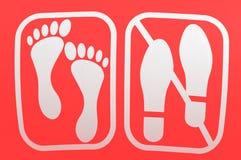 κανένα παπούτσι pictogam Στοκ Εικόνες
