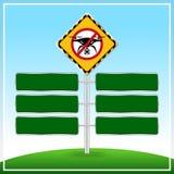 Κανένα προειδοποιητικό σημάδι ζώνης κηφήνων και πράσινο σημάδι δεν επ απεικόνιση αποθεμάτων