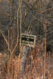 Κανένα σημάδι κυνηγιού ή καταπάτησης στοκ εικόνα