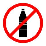 Κανένα σημάδι μπουκαλιών ποτών επίσης corel σύρετε το διάνυσμα απεικόνισης ελεύθερη απεικόνιση δικαιώματος