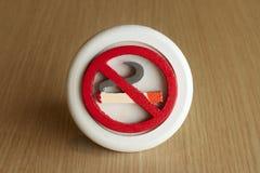 κανένα σημάδι που καπνίζει το διαστημικό κείμενο Στοκ Φωτογραφία