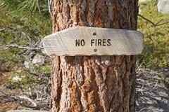 Κανένα σημάδι πυρκαγιών Στοκ Εικόνες
