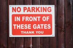 Κανένα σημάδι του Γκέιτς χώρων στάθμευσης στοκ εικόνες