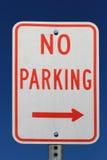 κανένα σημάδι χώρων στάθμευσης Στοκ φωτογραφίες με δικαίωμα ελεύθερης χρήσης