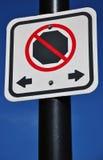 κανένα σημάδι χώρων στάθμευ&si Στοκ εικόνα με δικαίωμα ελεύθερης χρήσης
