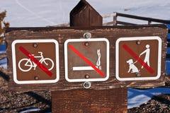κανένα σημάδι Στοκ φωτογραφία με δικαίωμα ελεύθερης χρήσης