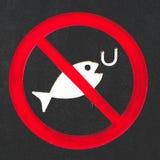 Κανένα σημάδι αλιείας Στοκ φωτογραφία με δικαίωμα ελεύθερης χρήσης