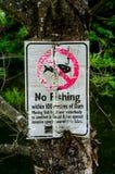 Κανένα σημάδι αλιείας Στοκ φωτογραφίες με δικαίωμα ελεύθερης χρήσης