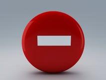 Κανένα σημάδι εισόδων Στοκ εικόνα με δικαίωμα ελεύθερης χρήσης
