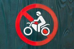 Κανένα σημάδι μοτοσικλετών Στοκ Εικόνα