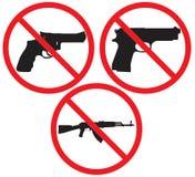 Κανένα σημάδι πυροβόλων όπλων Στοκ Φωτογραφίες