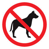 Κανένα σημάδι σκυλιών Στοκ Φωτογραφίες