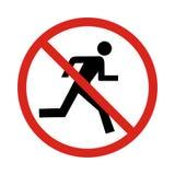 Κανένα σημάδι τρεξίματος, Στοκ Εικόνες