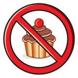 Κανένα σημάδι τροφίμων Στοκ Εικόνες