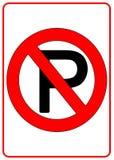 κανένα σημάδι χώρων στάθμευσης Στοκ Φωτογραφίες