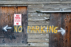 κανένα σημάδι χώρων στάθμευ&si Στοκ Εικόνες