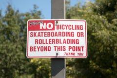 Κανένα σημάδι Bicycling Στοκ Φωτογραφία