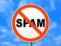 κανένα στρογγυλό σημάδι spam Στοκ Εικόνες