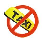 κανένα ταξί σημαδιών Στοκ φωτογραφίες με δικαίωμα ελεύθερης χρήσης