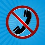 κανένα τηλέφωνο Στοκ εικόνα με δικαίωμα ελεύθερης χρήσης