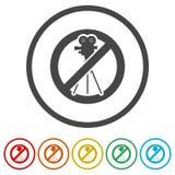 Κανένα τηλεοπτικό σημάδι αρχείων, κανένα τηλεοπτικό σημάδι βλαστών, 6 χρώματα συμπεριλαμβανόμενα Στοκ φωτογραφίες με δικαίωμα ελεύθερης χρήσης